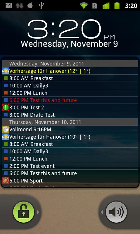 Calendar Lockscreen : Lock screen  for android™