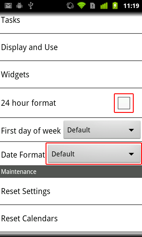 date and time display in android